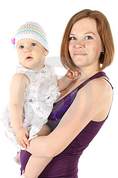 Mother's Love. Cute Baby 8 Month With Mother Stock Image - Image: 14872601