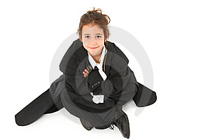 Adorable Six Year Old Girl In Suit Royalty Free Stock Image - Image: 14873446