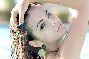 Young Woman Relaxing In A Pool Spa Stock Photos - Image: 14874023