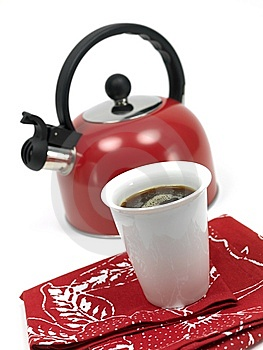Stove Top Kettle And Coffee Stock Photos - Image: 14874763