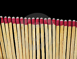 Matches Isolated On Black Royalty Free Stock Photography - Image: 14874967