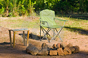 Camp Fire Site Royalty Free Stock Photography - Image: 14875017