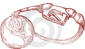 Gasoline Pump Nozzle Pour Oil Stock Photo - Image: 14875060