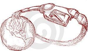 Gasoline Pump Nozzle Pour Oil Stock Photo - Image: 14875060