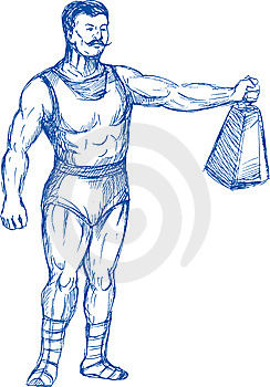 Strongman Holding Heavy Weight Stock Images - Image: 14875064