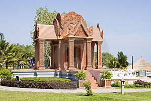 Pavilion In Cambodia Royalty Free Stock Images - Image: 14876059