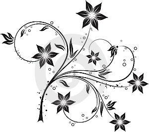 Floral Element For Design Stock Image - Image: 14877271