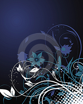 Dark Floral Background Stock Photos - Image: 14877343