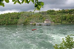 Waterfall Rhine Falls (Rheinfall) At Schaffhausen Royalty Free Stock Image - Image: 14877996