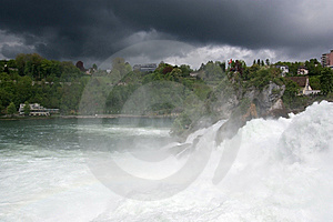 Waterfall Rhine Falls (Rheinfall) At Schaffhausen Royalty Free Stock Images - Image: 14877999