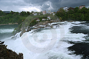 Waterfall Rhine Falls (Rheinfall) At Schaffhausen Royalty Free Stock Image - Image: 14878036