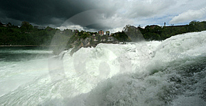 Waterfall Rhine Falls (Rheinfall) At Schaffhausen Stock Photos - Image: 14880663