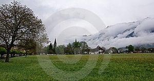 Switzerland, Interlaken,  View Of The City And The Stock Photo - Image: 14880770