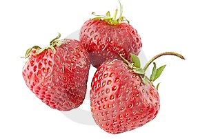 Three Ripe Strawberry Royalty Free Stock Image - Image: 14881466