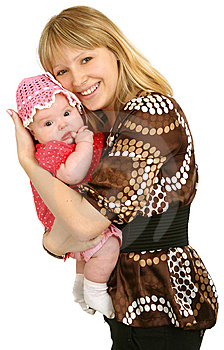 Happy Mother With Little Daughter Stock Photos - Image: 14882683