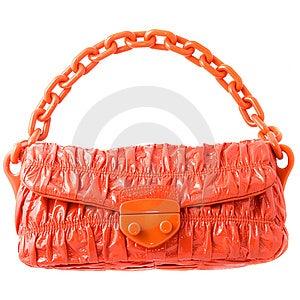 Luxury Red Leather Female Bag Isolated On White Royalty Free Stock Image - Image: 14883356