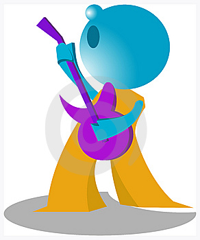 Blueman Guitarist Royalty Free Stock Images - Image: 14883719