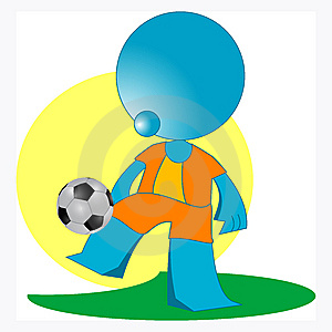 Blueman Soccer Player Stock Photos - Image: 14883743