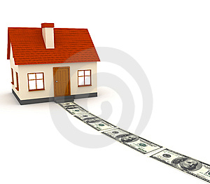Home And Cash Royalty Free Stock Photos - Image: 14883878