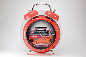 Red Alarm Clock Stock Image - Image: 14884161