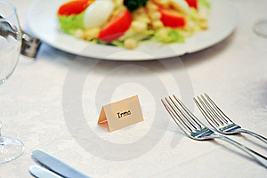 Table Appointments For Dinner Stock Image - Image: 14888771