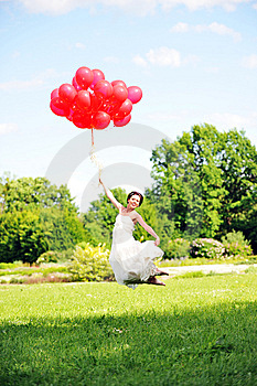 Bride  With Balloons Stock Photos - Image: 14888793