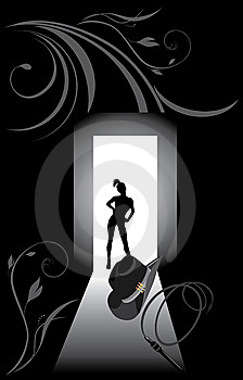 Cowboy Hat, Whip And Female Silhouette Stock Images - Image: 14889734