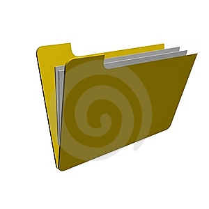 Folder With Files Royalty Free Stock Photo - Image: 14890695