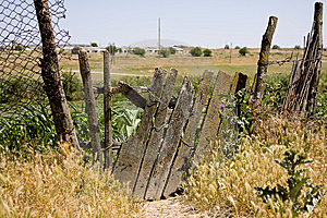 Old Wooden Fence On The Thrown Farm Stock Photography - Image: 14893312