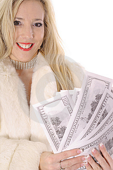 Diva Showing Off Money Stock Photo - Image: 14896850
