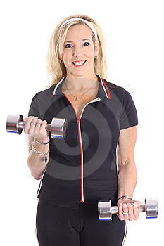 Gorgeous Blonde Staying Fit Royalty Free Stock Photography - Image: 14897017