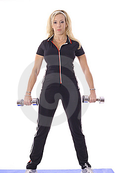 Woman Working Out Royalty Free Stock Photo - Image: 14897025
