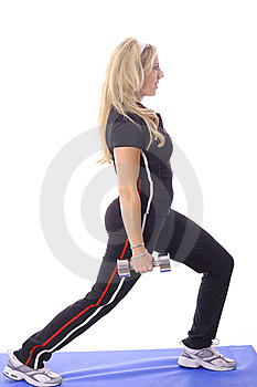 Blonde Working Out Stock Photo - Image: 14897560