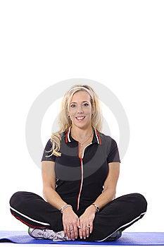 Blonde Yoga Woman Stock Images - Image: 14897584