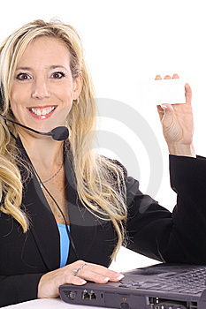 Gorgeous Blonde Customer Service Royalty Free Stock Photography - Image: 14897597