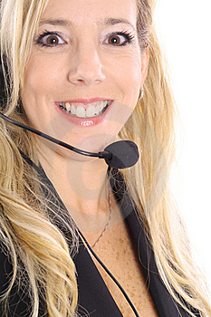 Gorgeous Blonde Customer Service Stock Image - Image: 14897601
