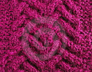 Close-up Of Knitted Cloth With Raised Tracery Royalty Free Stock Photography - Image: 14897767