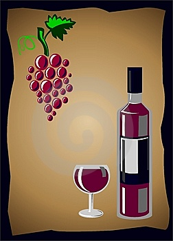 Wine And Grapes Royalty Free Stock Images - Image: 14898829