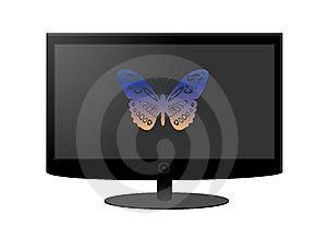 LCD/Plasma TV Screen Royalty Free Stock Image - Image: 14899036