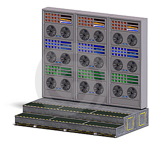 A Historic Science Fiction Computer Or Mainframe Stock Photo - Image: 14899940