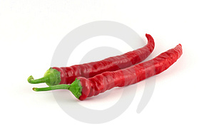 Two Red Chilli Paprikas Stock Images - Image: 1494334