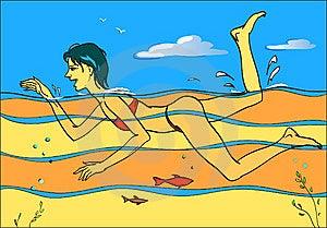 Swimming Royalty Free Stock Photo - Image: 14901555