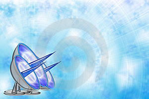 Blue Sky Background With Antennas Stock Image - Image: 14901681