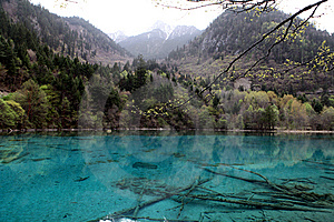 Mountain And Sparkling Bright Blue Lake Stock Photo - Image: 14901790