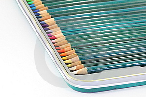 Colouring Pencils In Tin Box Stock Photography - Image: 14901972
