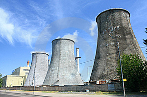 Heat Electropower Station Royalty Free Stock Photos - Image: 14905818