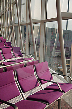 Violet Air Port Seat Royalty Free Stock Photo - Image: 14905935
