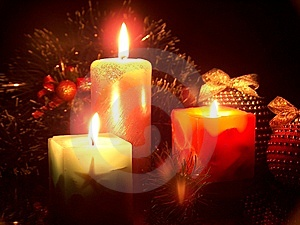 The Christmas Candles Royalty Free Stock Images - Image: 14907559