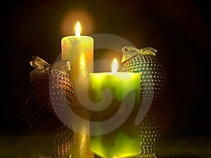 The Christmas Candles Royalty Free Stock Photos - Image: 14907568