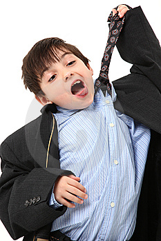 Adorable Boy In Over Sized Suit Stock Photo - Image: 14911620